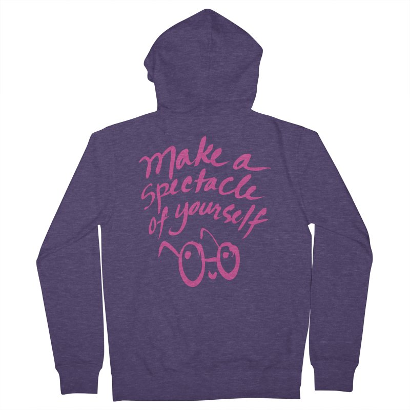 Make a Spectacle of Yourself Men's French Terry Zip-Up Hoody by totalbabycakes's Artist Shop