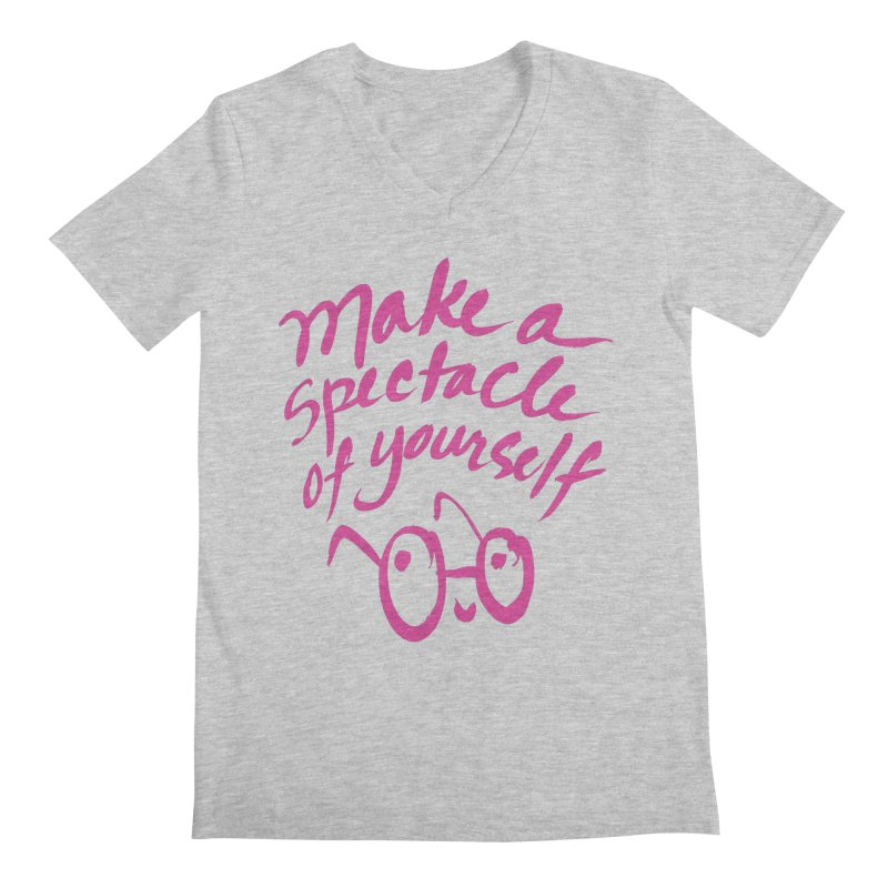 Make a Spectacle of Yourself Men's Regular V-Neck by totalbabycakes's Artist Shop