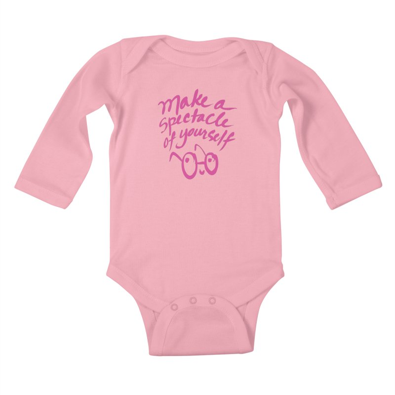Make a Spectacle of Yourself Kids Baby Longsleeve Bodysuit by totalbabycakes's Artist Shop
