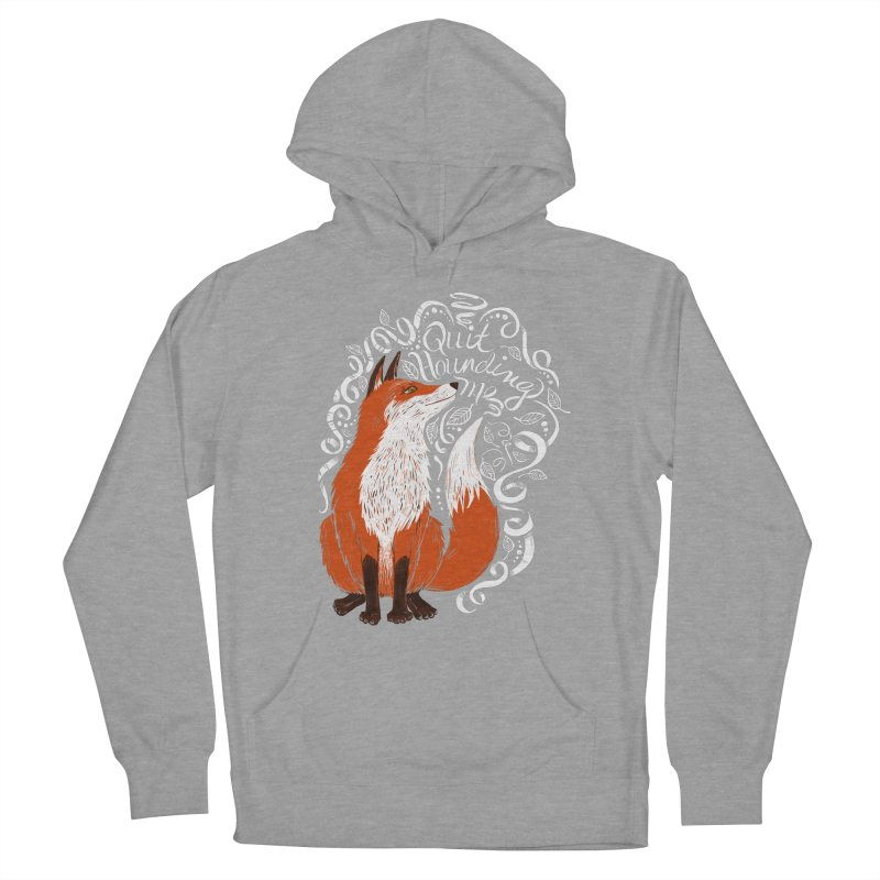 The Fox Says... Men's French Terry Pullover Hoody by totalbabycakes's Artist Shop
