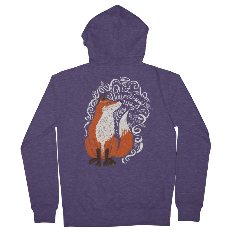 The Fox Says... Men's French Terry Zip-Up Hoody by totalbabycakes's Artist Shop