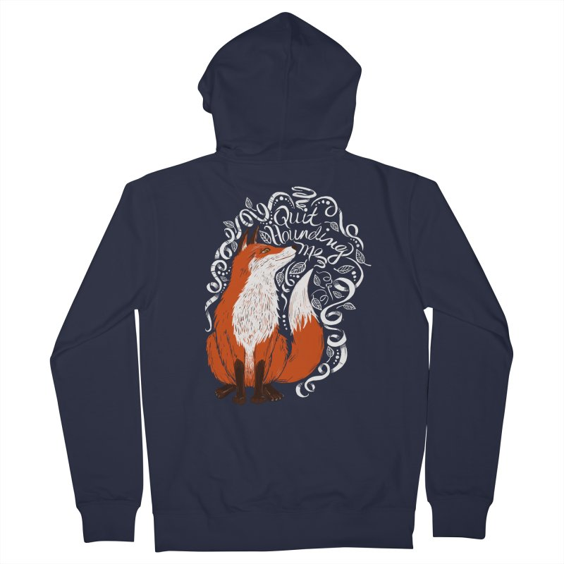 The Fox Says... Men's Zip-Up Hoody by totalbabycakes's Artist Shop