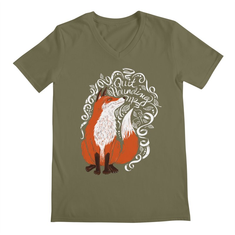 The Fox Says... Men's V-Neck by totalbabycakes's Artist Shop