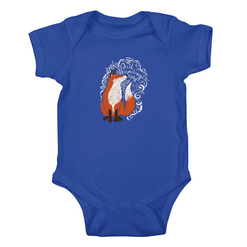 The Fox Says... Kids Baby Bodysuit by totalbabycakes's Artist Shop