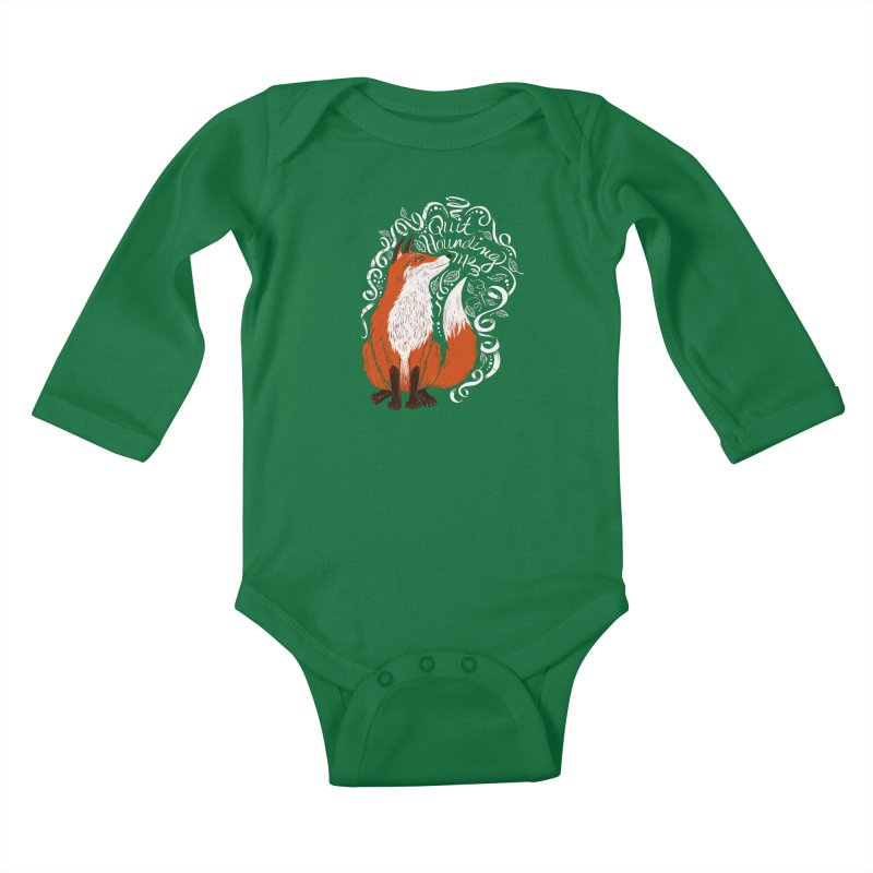 The Fox Says... Kids Baby Longsleeve Bodysuit by totalbabycakes's Artist Shop