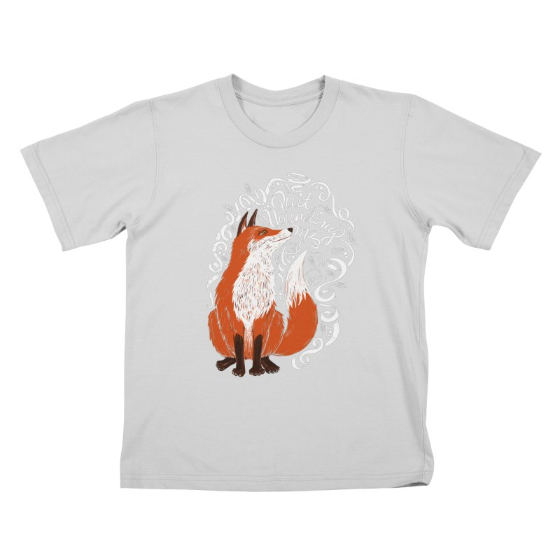 The Fox Says... Kids T-Shirt by totalbabycakes's Artist Shop