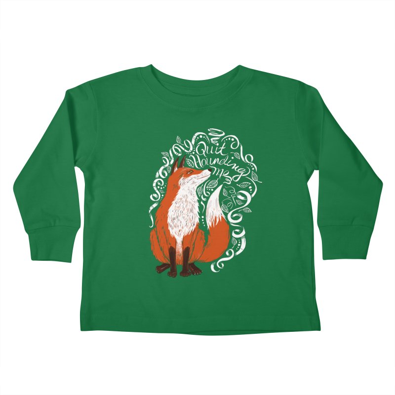 The Fox Says... Kids Toddler Longsleeve T-Shirt by totalbabycakes's Artist Shop