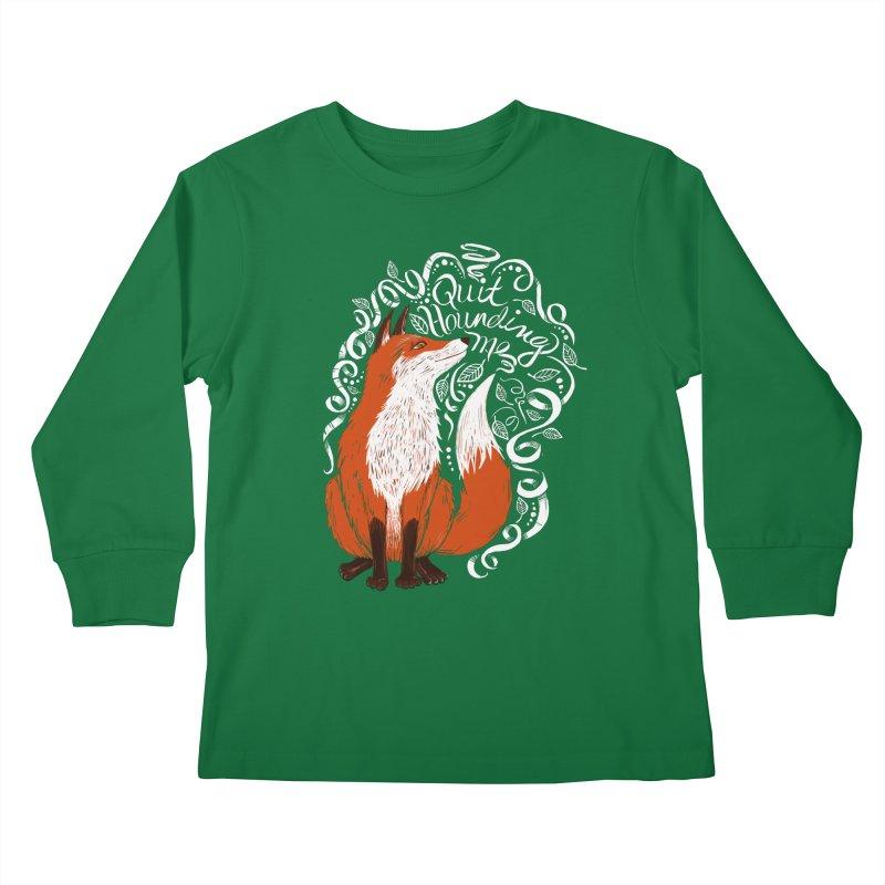 The Fox Says... Kids Longsleeve T-Shirt by totalbabycakes's Artist Shop