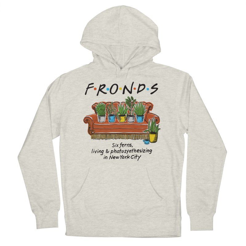 FRONDS Women's French Terry Pullover Hoody by totalbabycakes's Artist Shop