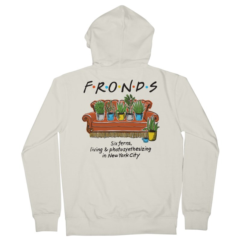 FRONDS Women's French Terry Zip-Up Hoody by totalbabycakes's Artist Shop
