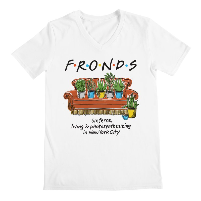 FRONDS Men's V-Neck by totalbabycakes's Artist Shop