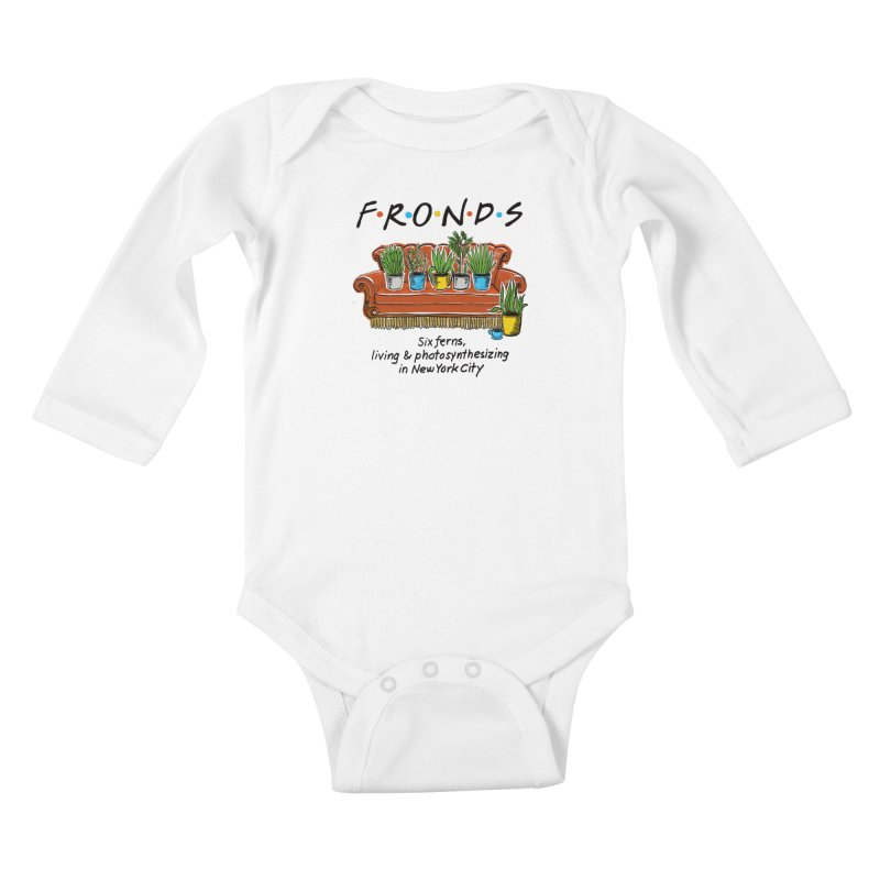 FRONDS Kids Baby Longsleeve Bodysuit by totalbabycakes's Artist Shop