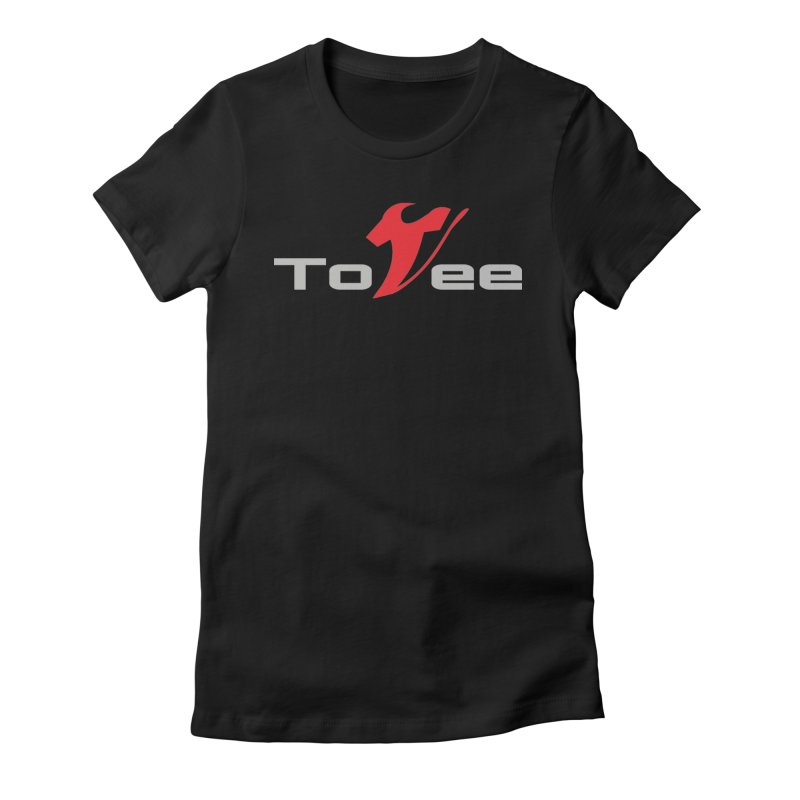 The Original Logo - Black Tee Women's Fitted T-Shirt by ToVee Apparel
