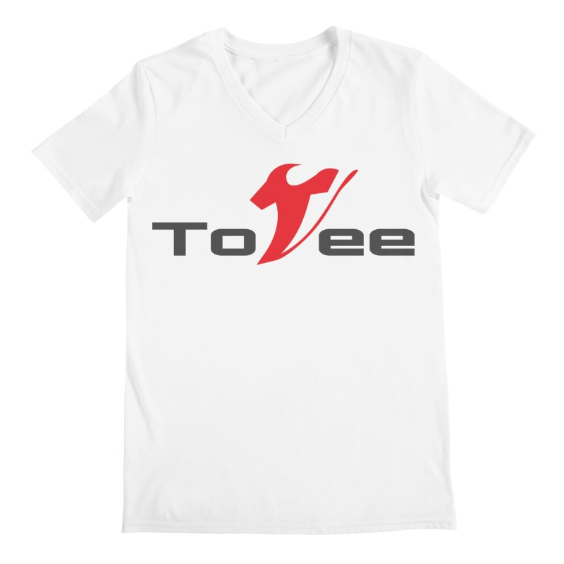 The Original Logo - White Tee Men's V-Neck by ToVee Apparel