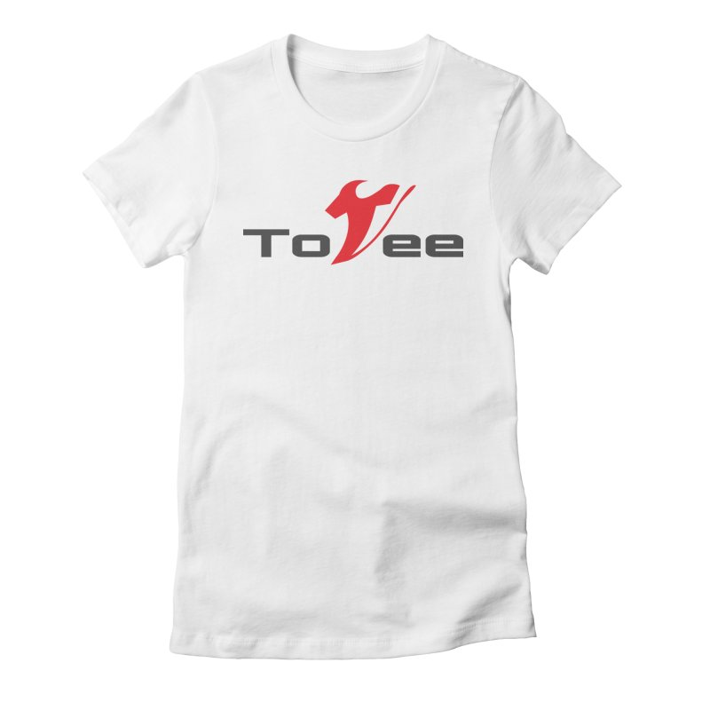 The Original Logo - White Tee Women's Fitted T-Shirt by ToVee Apparel