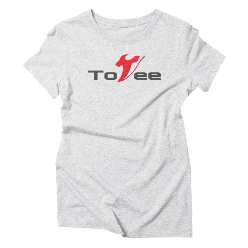 The Original Logo - White Tee Women's Triblend T-shirt by ToVee Apparel