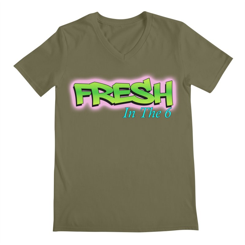 Fresh in The 6 Men's V-Neck by ToVee Apparel
