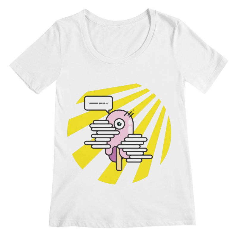 Speechless Melting Icycle Women's Regular Scoop Neck by towch's Artist Shop