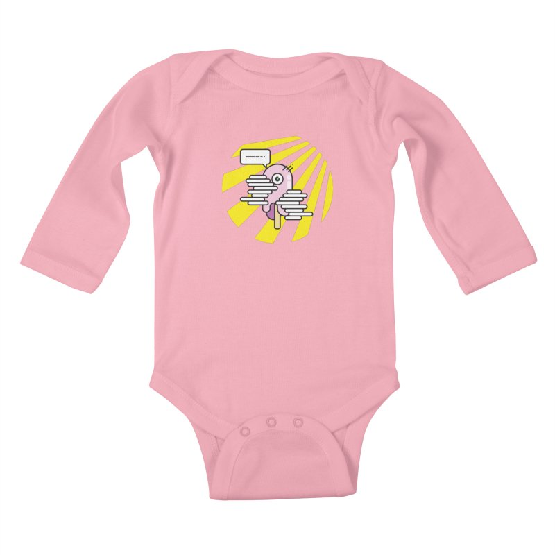 Speechless Melting Icycle Kids Baby Longsleeve Bodysuit by towch's Artist Shop