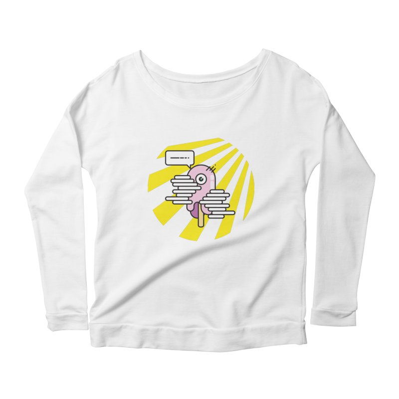 Speechless Melting Icycle Women's Scoop Neck Longsleeve T-Shirt by towch's Artist Shop