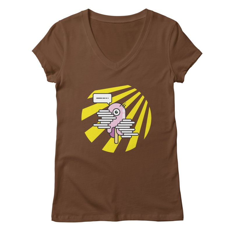 Speechless Melting Icycle Women's V-Neck by towch's Artist Shop