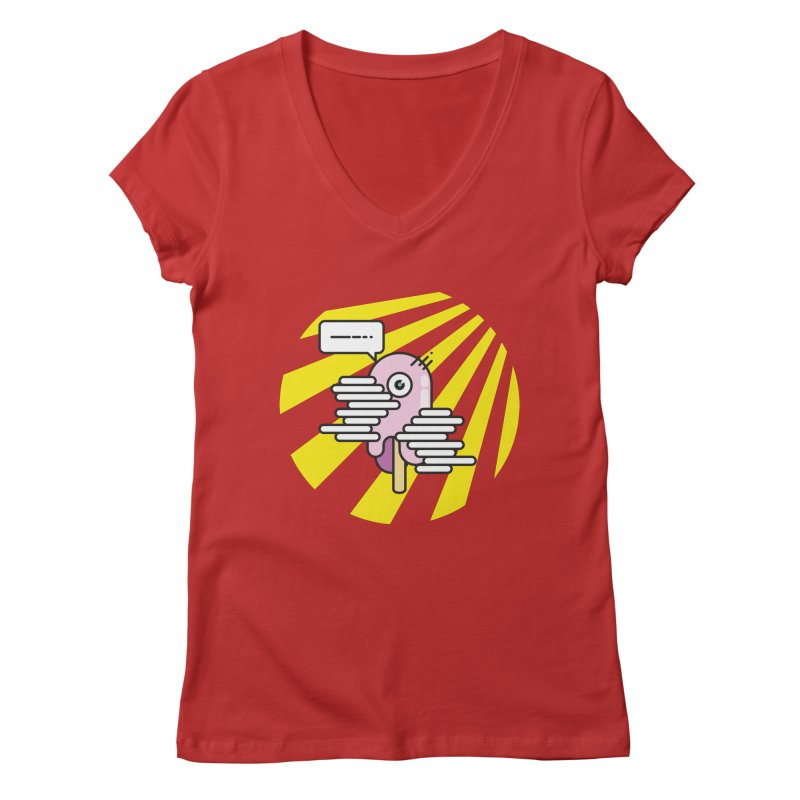 Speechless Melting Icycle Women's Regular V-Neck by towch's Artist Shop