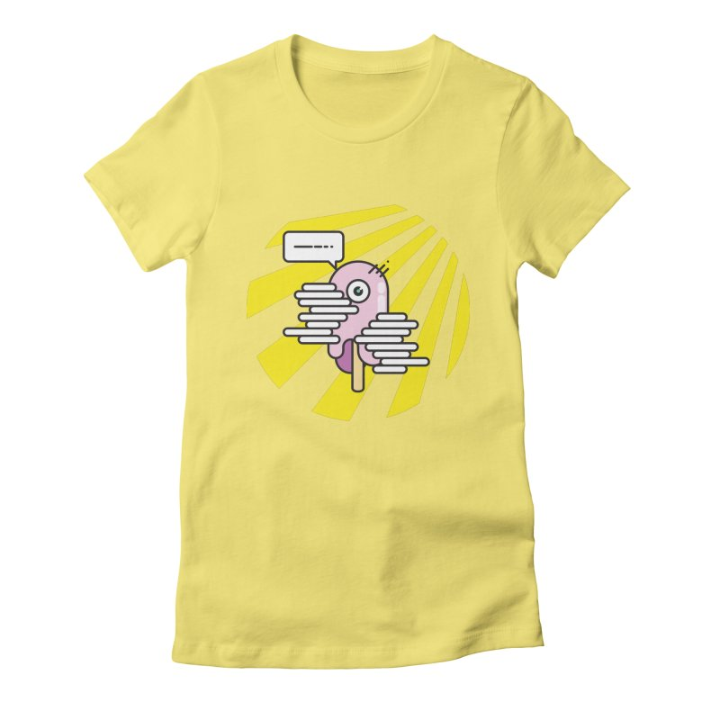 Speechless Melting Icycle Women's Fitted T-Shirt by towch's Artist Shop