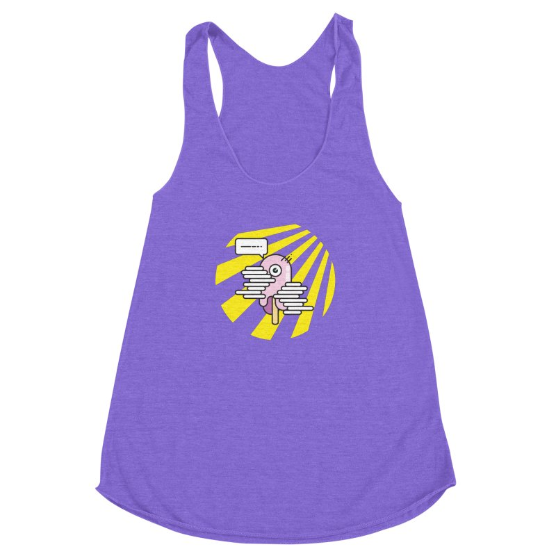 Speechless Melting Icycle Women's Racerback Triblend Tank by towch's Artist Shop