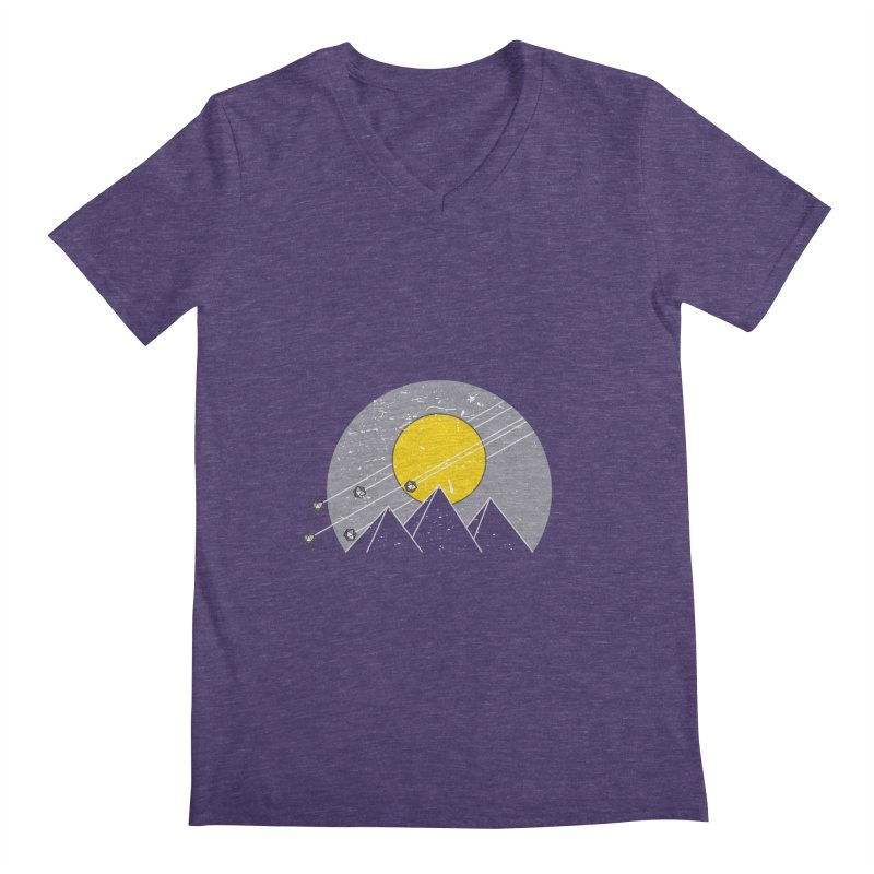 Pyramid Assault Men's V-Neck by towch's Artist Shop