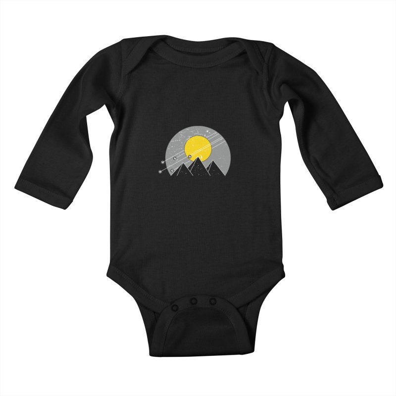 Pyramid Assault Kids Baby Longsleeve Bodysuit by towch's Artist Shop
