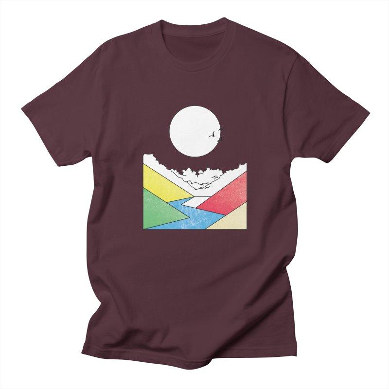 Sun & Valley Men's Regular T-Shirt by towch's Artist Shop