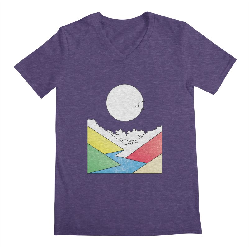 Sun & Valley Men's V-Neck by towch's Artist Shop