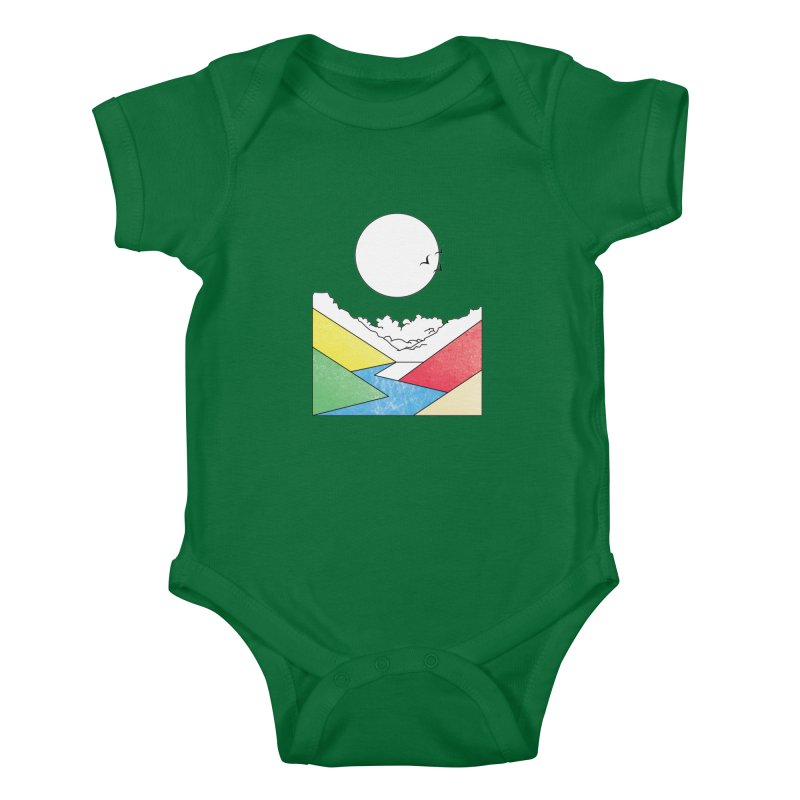 Sun & Valley Kids Baby Bodysuit by towch's Artist Shop