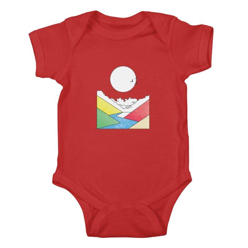 Sun & Valley Kids Baby Bodysuit by towch's Artist Shop
