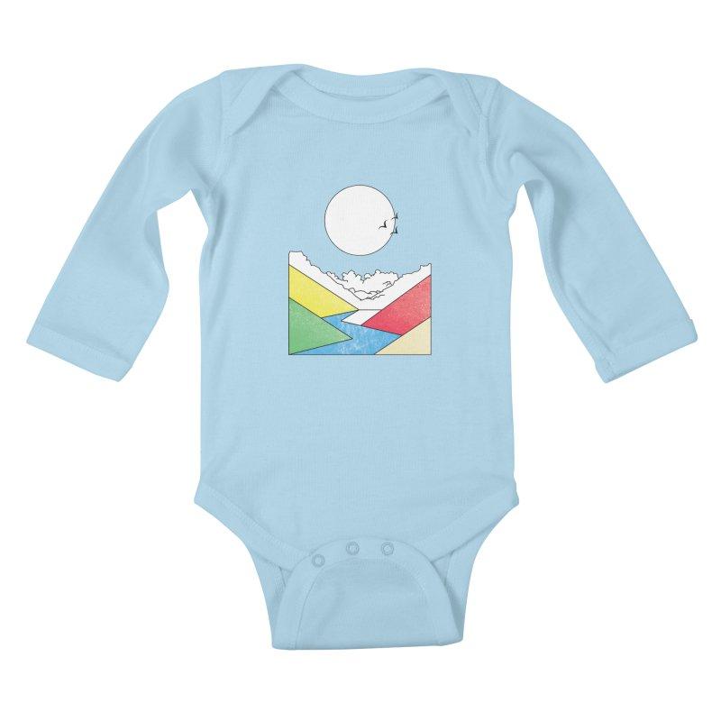Sun & Valley Kids Baby Longsleeve Bodysuit by towch's Artist Shop