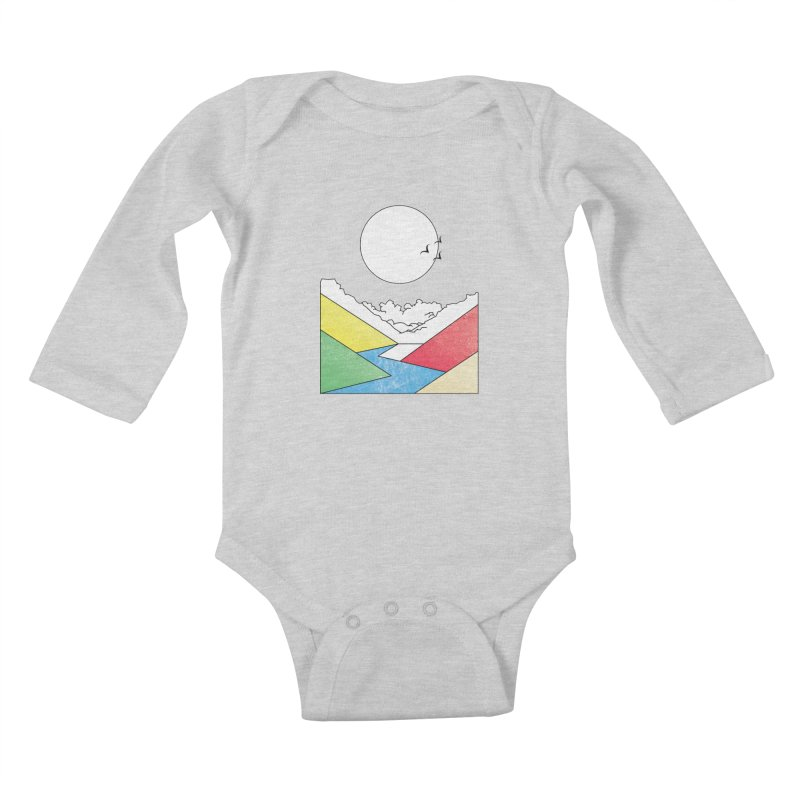 Sun & Valley Kids Baby Longsleeve Bodysuit by towch's Artist Shop