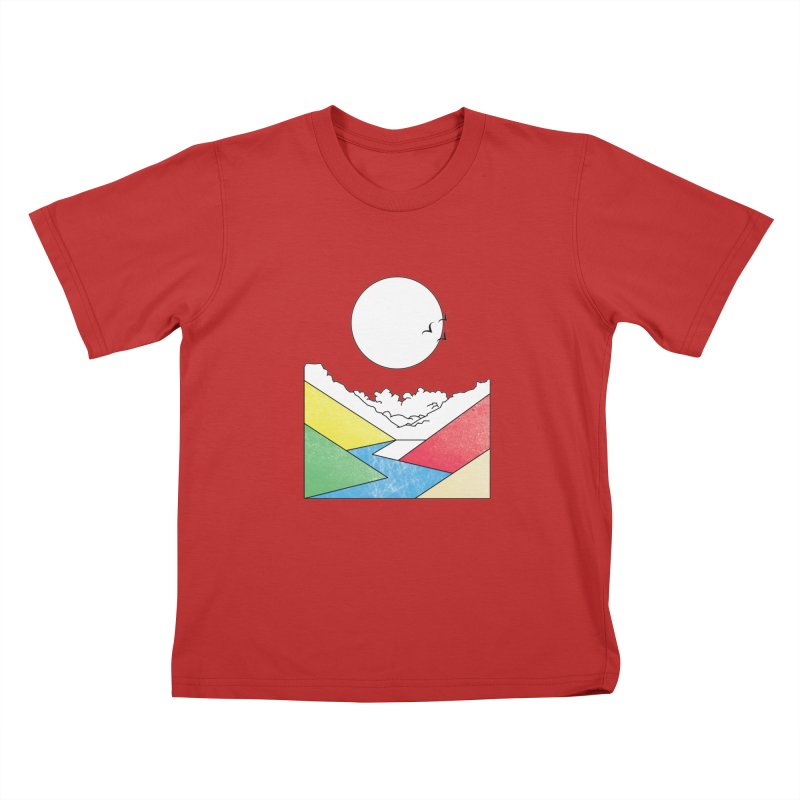 Sun & Valley Kids T-Shirt by towch's Artist Shop
