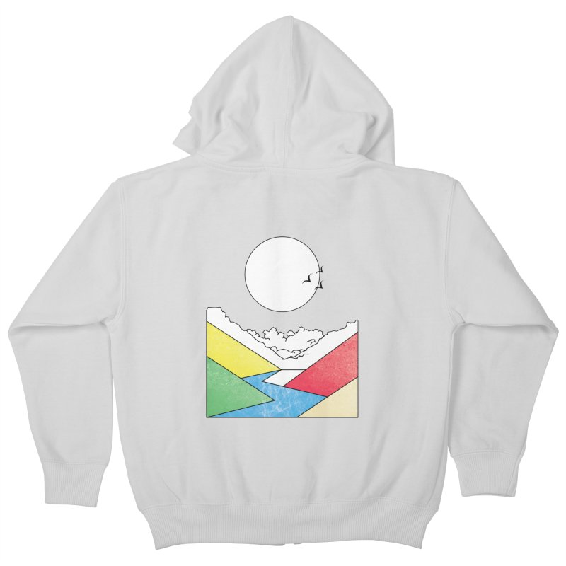 Sun & Valley Kids Zip-Up Hoody by towch's Artist Shop