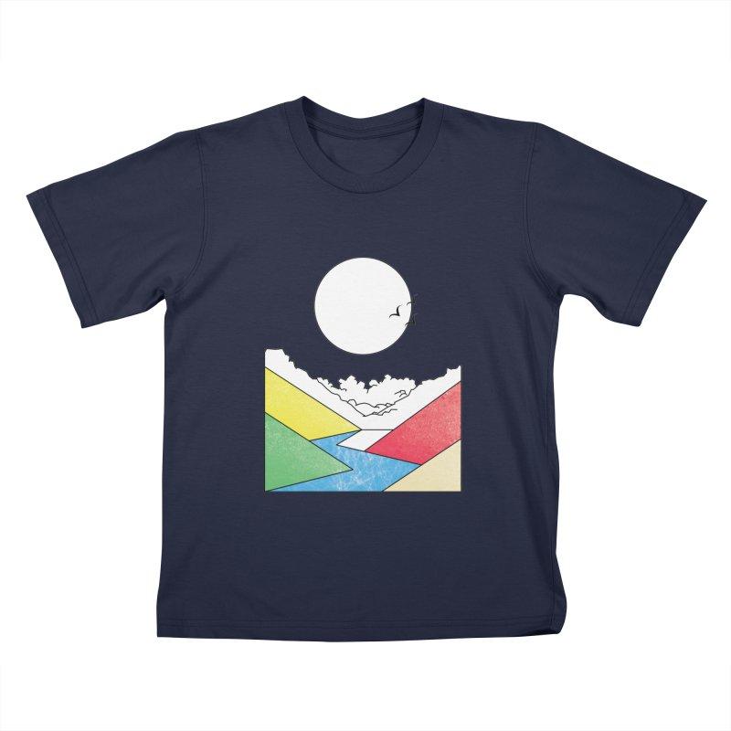 Sun & Valley Kids T-Shirt by towch's Artist Shop