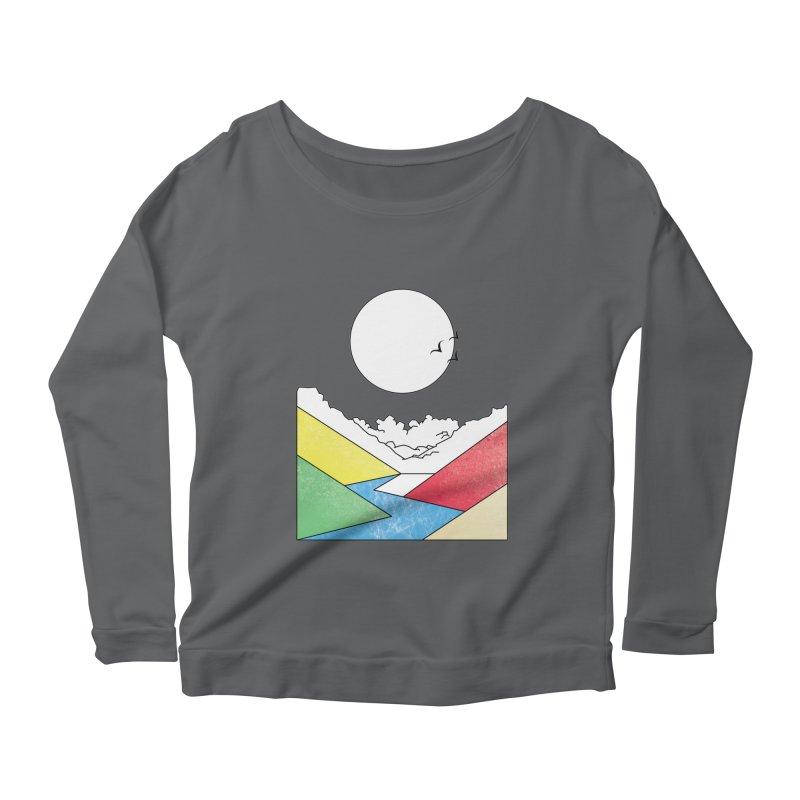 Sun & Valley Women's Scoop Neck Longsleeve T-Shirt by towch's Artist Shop