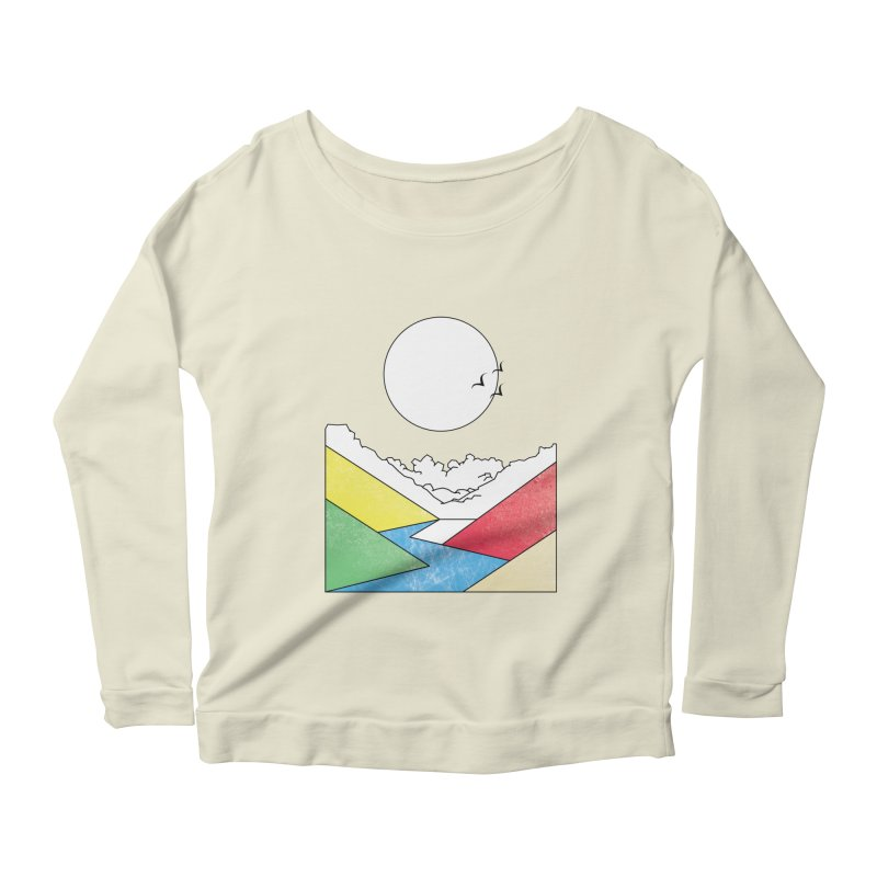 Sun & Valley Women's Longsleeve Scoopneck  by towch's Artist Shop
