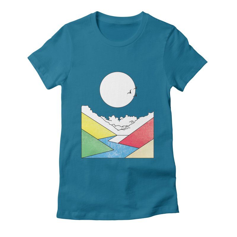 Sun & Valley Women's Fitted T-Shirt by towch's Artist Shop
