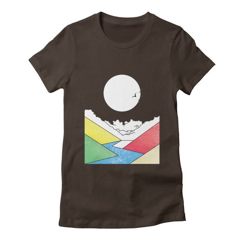 Sun & Valley Women's Fitted T-Shirt by towch's Artist Shop