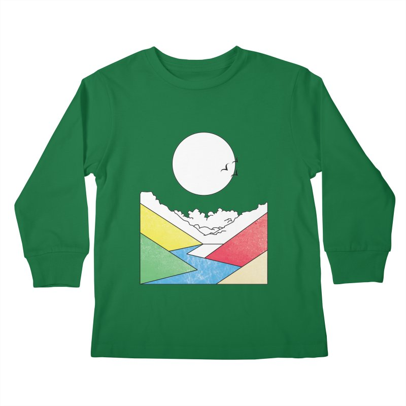 Sun & Valley Kids Longsleeve T-Shirt by towch's Artist Shop
