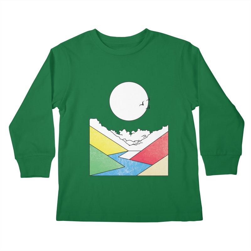 Sun & Valley Kids Longsleeve T-Shirt by towch's Artist Shop