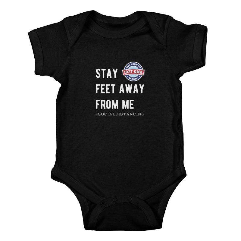 WGNA Social Distancing Shirt Kids Baby Bodysuit by Townsquare Media Albany's Artist Shop