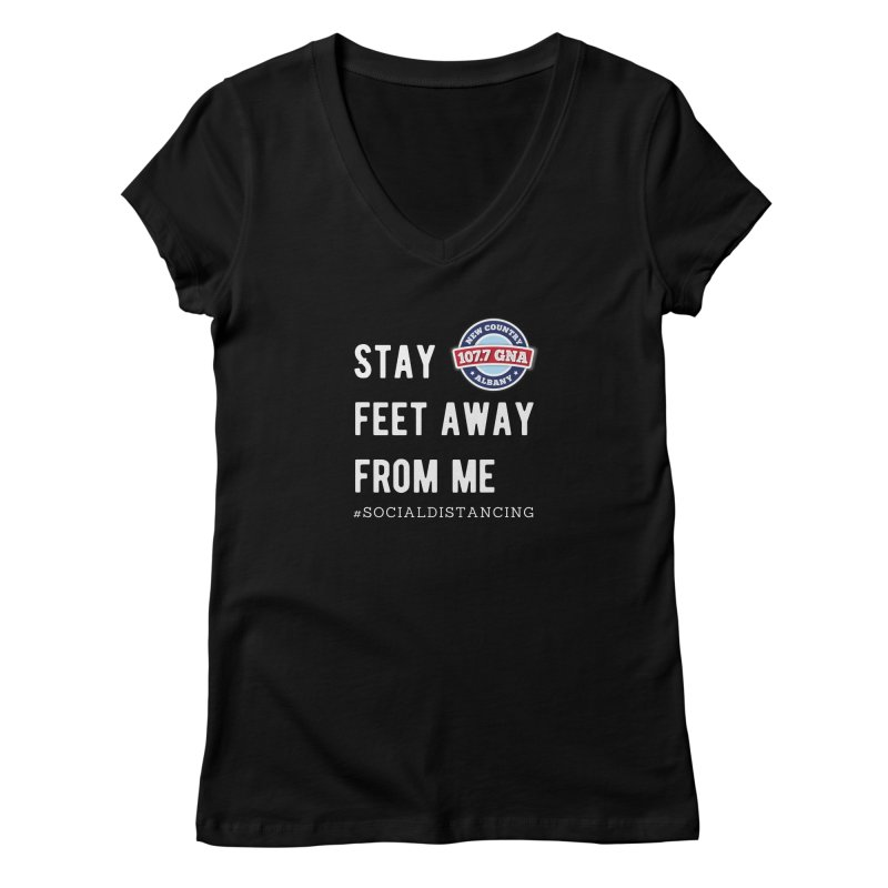 WGNA Social Distancing Shirt Women's V-Neck by Townsquare Media Albany's Artist Shop