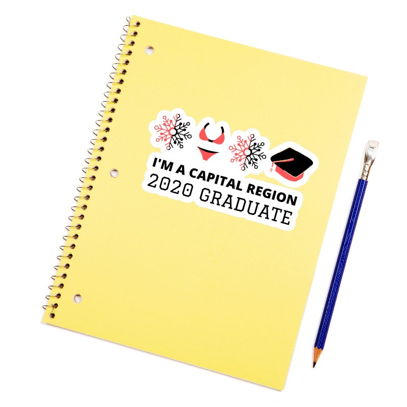 2020 Capital Region Graduate Accessories Sticker by Townsquare Media Albany's Artist Shop