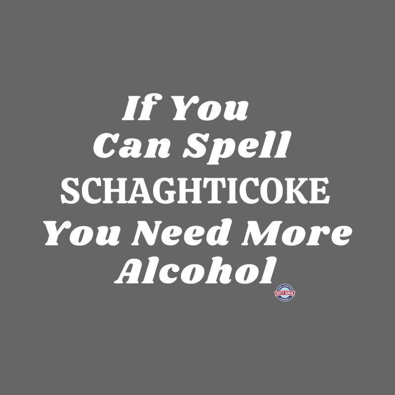 Schaghticoke Spelling Shirt Men's T-Shirt by Townsquare Media Albany's Artist Shop