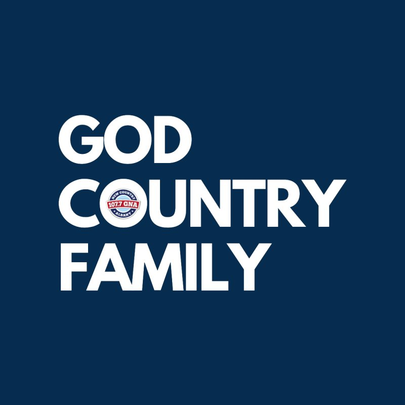 God, Country, Family Shirt Men's Zip-Up Hoody by Townsquare Media Albany's Artist Shop